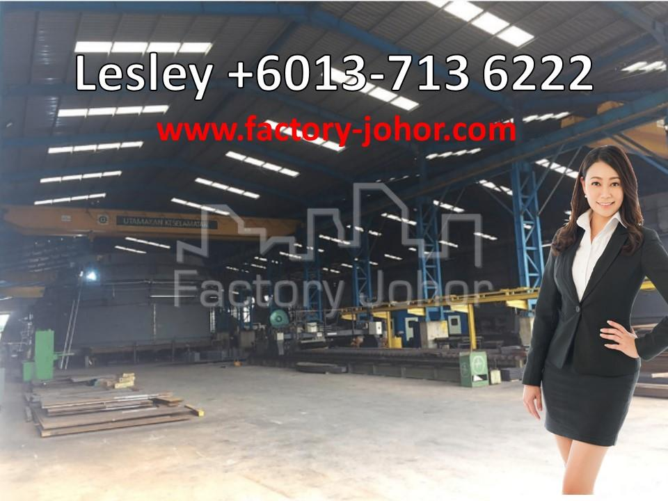 Detached Factory with 6 units of Overhead Crane at Pasir Gudang  (BUA: 104k @ RM172 psf)